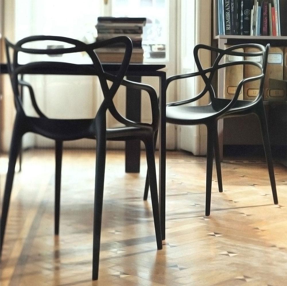 Sedia Masters in polipropilene Kartell design Philippe Starck