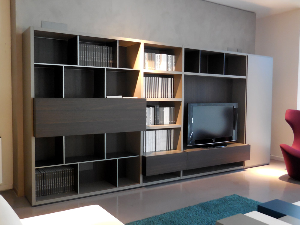 Outlet Mobili Poliform.Outlet Libreria Wall System Poliform